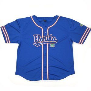 Florida Gators Baseball Button Jersey XL Blue Mens